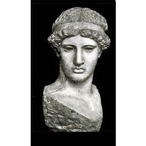 Grieks beeld van de Griekse godin van de wijsheid. Bekend uit de Griekse mythologie